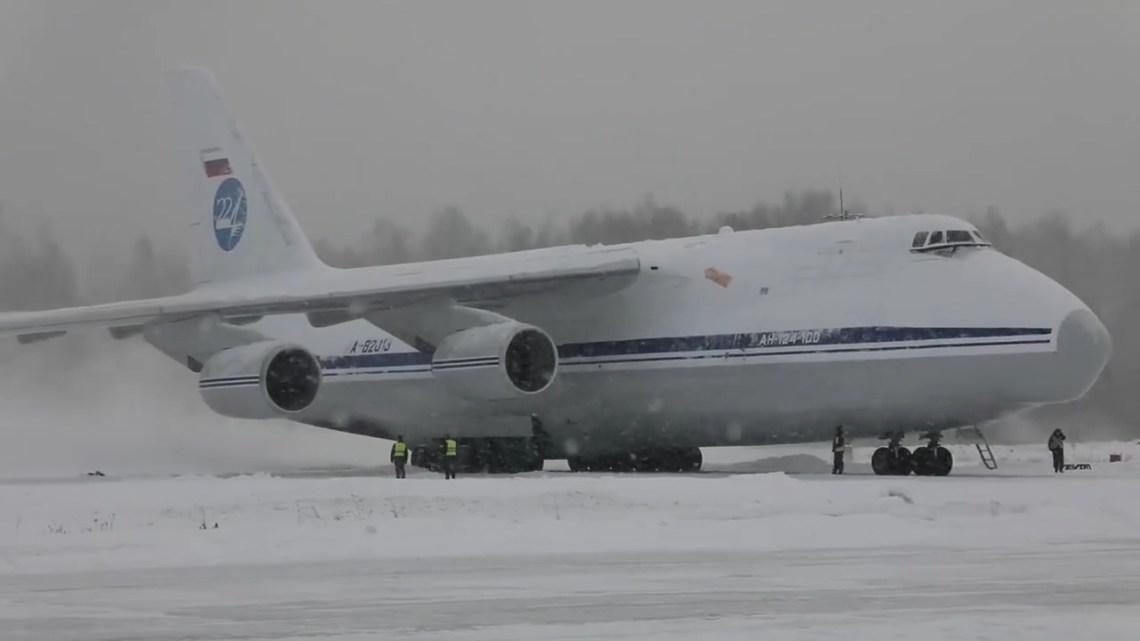 Russian Air Force Mass Launch of AN-124 Heavy Cargo Aircraft