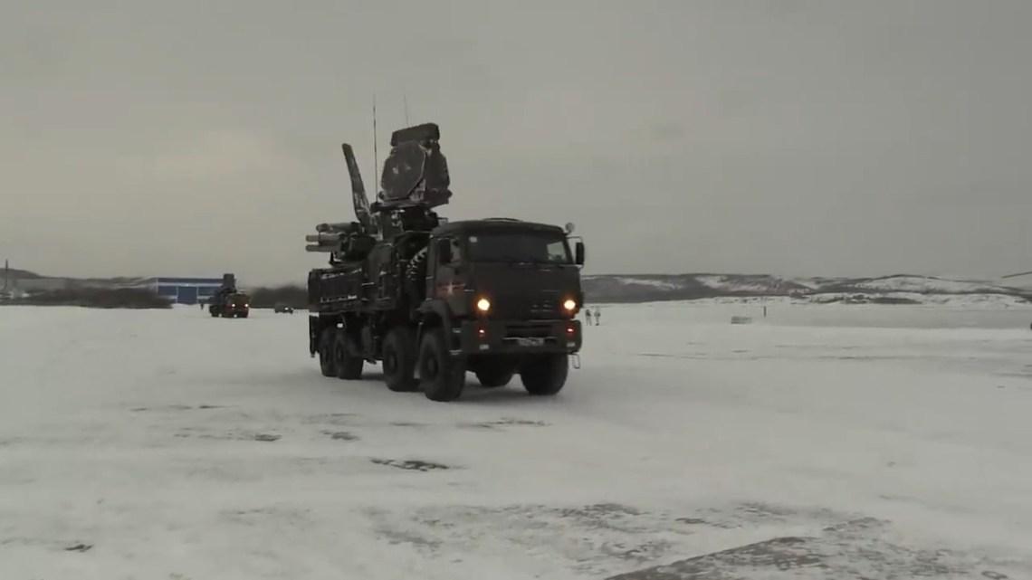 Russian Navy Northern Fleet antsir-S1 air defense system