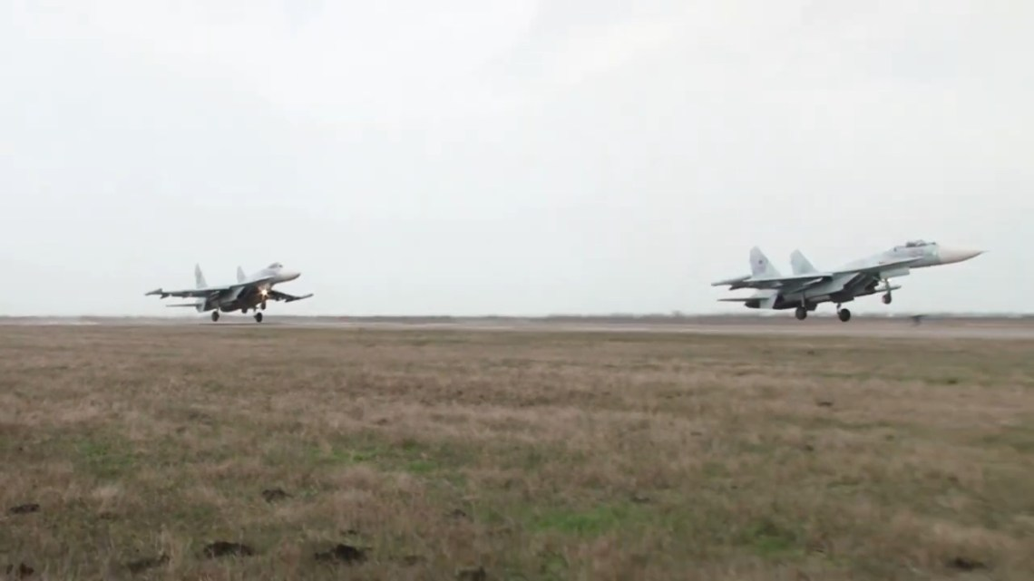 Russian Southern Military Su-30SM fighter jets