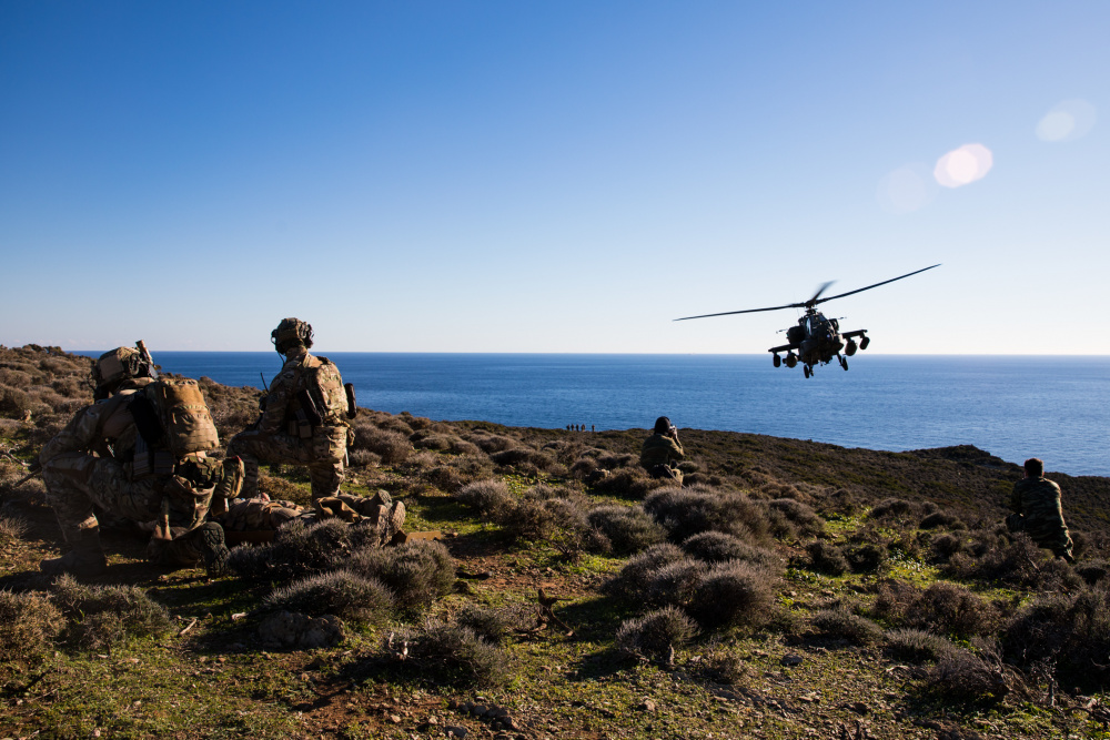 US Army Helicopters Conduct Unique Training with Hellenic Armed Forces