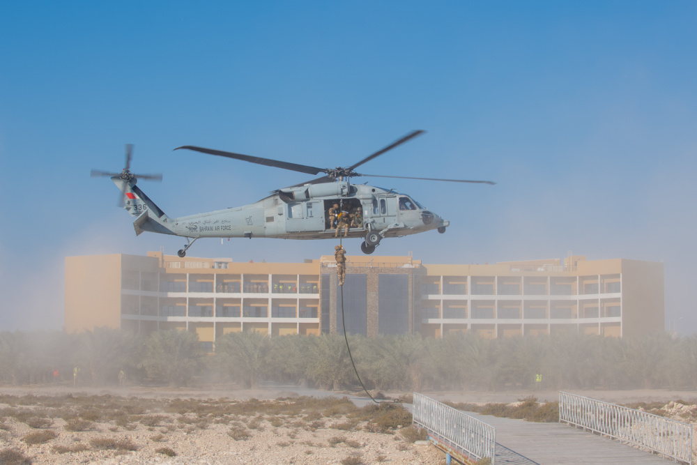 US Navy and Bahrain Defense Force Conduct Joint Anti-Terrorism Exercise