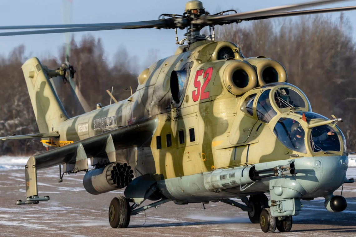Russian Western Military District Mil Mi-35 Hind E