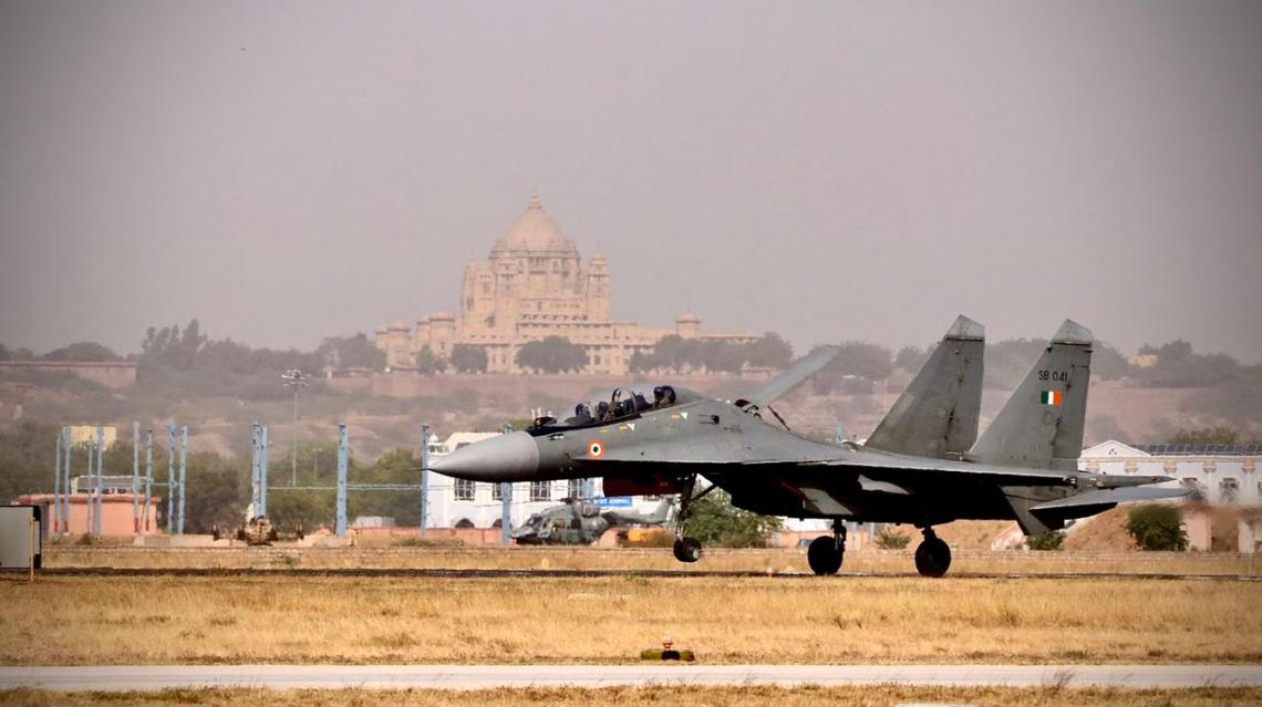 Indian Air Force Sukhoi Su-30MKI multirole air superiority fighter