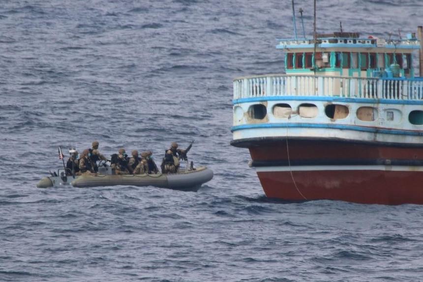 US Navy USS Philippine Sea Interdicts Over $2.8 Million of Heroin in North Arabian Sea