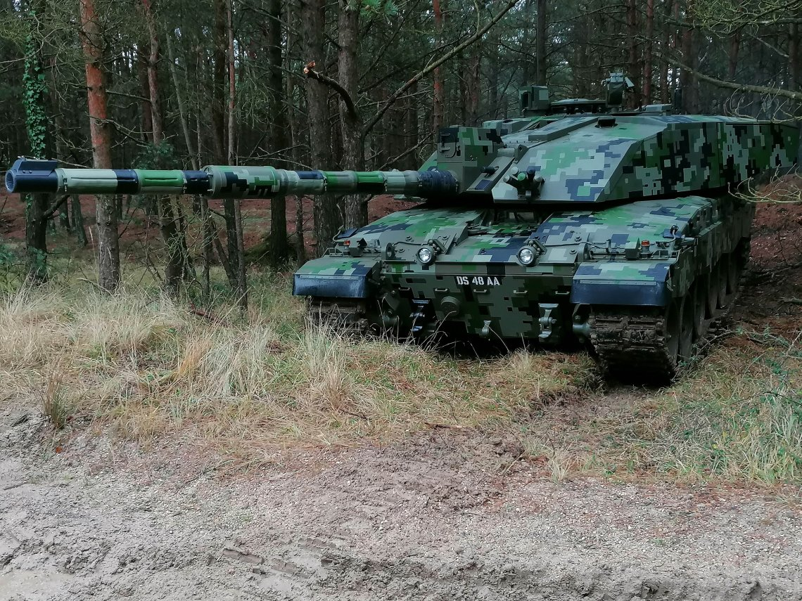 Challenger gets a digital upgrade, with a new digital camouflage paint scheme, seen here on trails at Bovington Training areas in Dorset in the later part of 2020