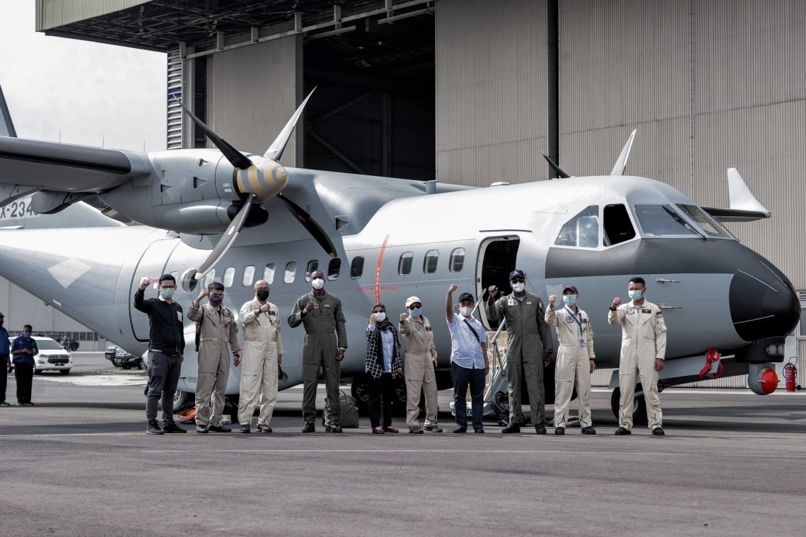 Indonesian Aerospace Receives Flight Acceptance Certificate for CN-235 MPA Delivery to Senegal