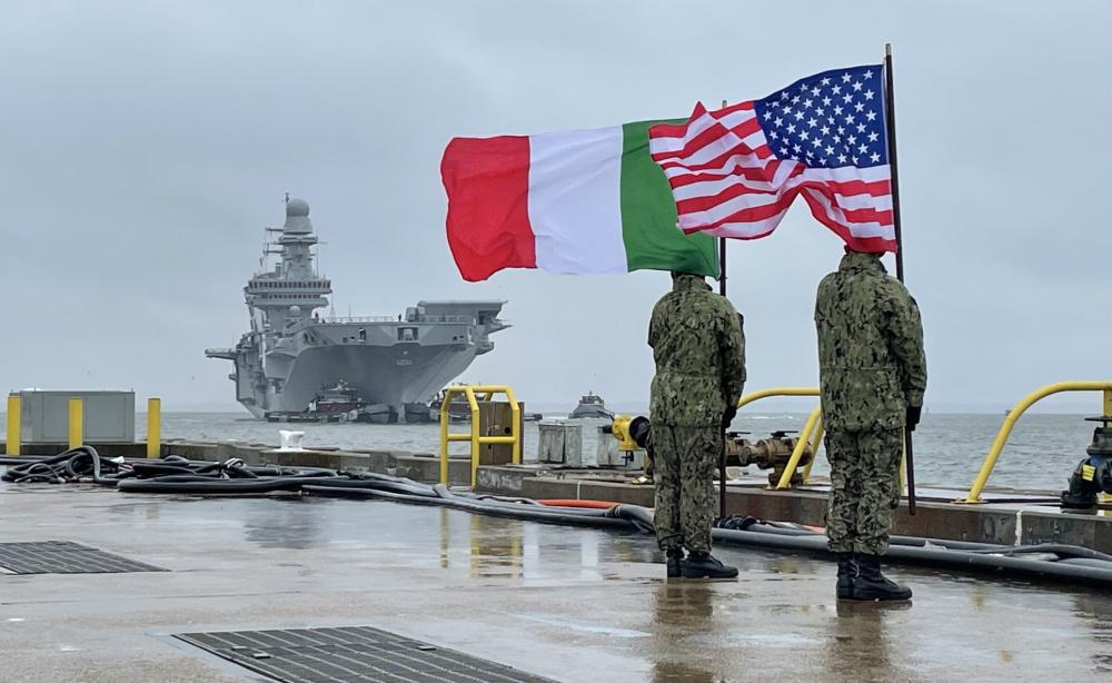 F-35B Lighting II Jets Begin Sea Trials Aboard Italian Navy Aircraft Carrier