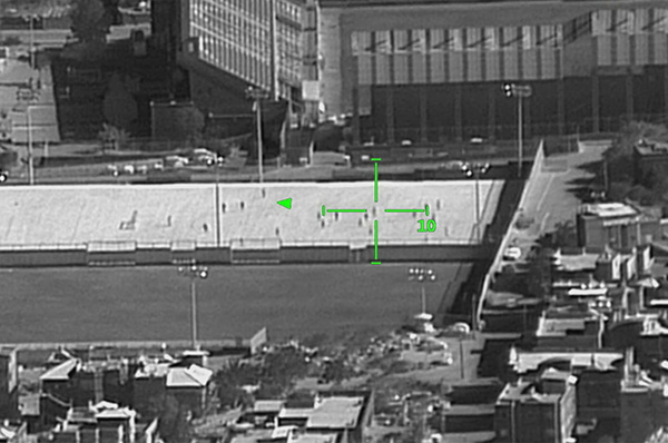 High resolution imagery produced by AMPS-NG of a football game from a distance of 25km