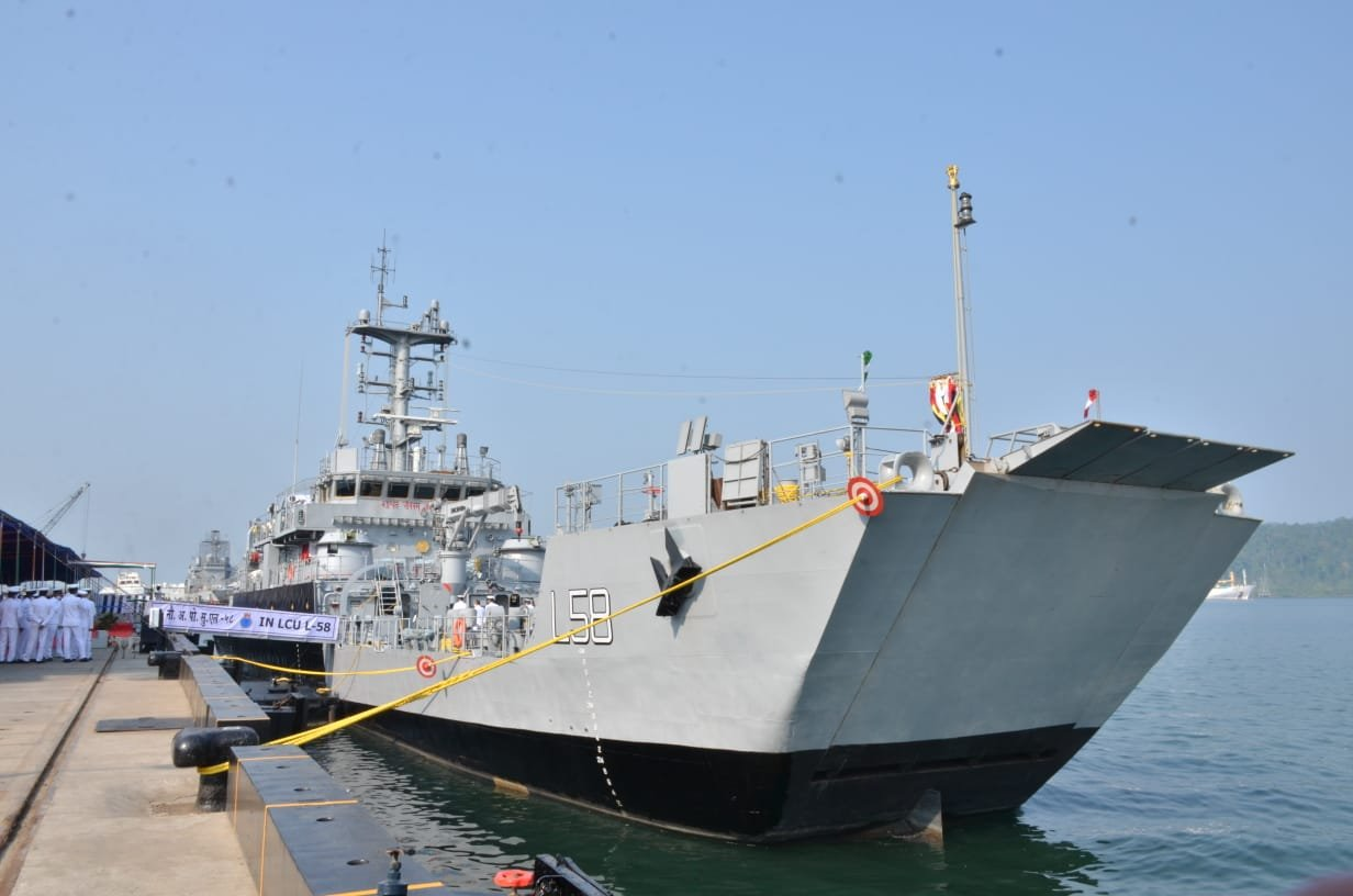 Indian Garden Reach Shipbuilders & Engineers Commissions IN LCU-L58 Yard 2099