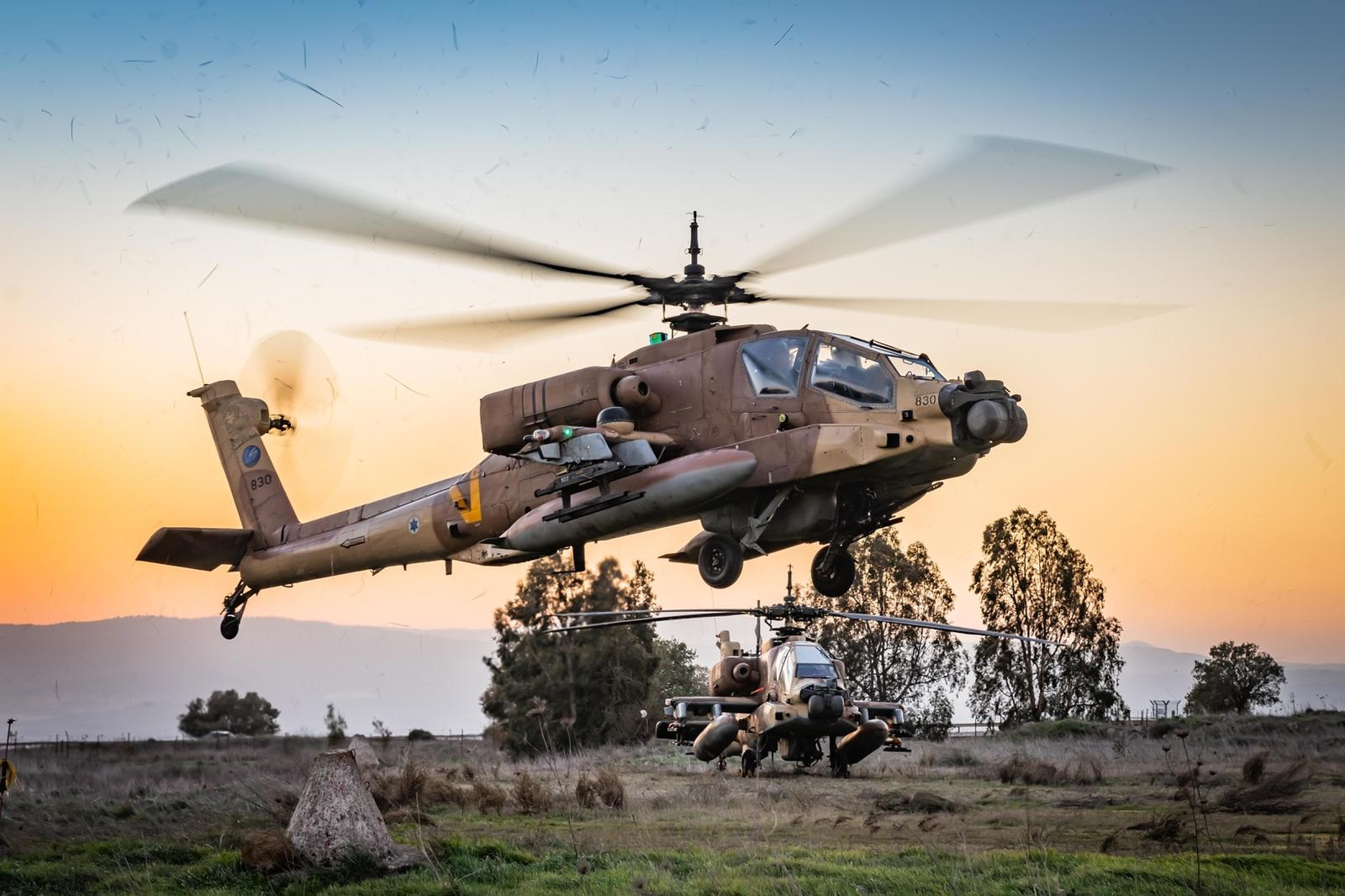 Israeli Air Force Helicopter Squadrons Drill Warfare in Northern Theater