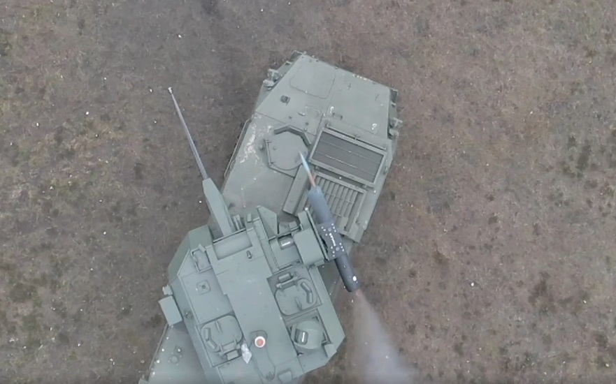 John Cockerill Defense and Thales Fires 70mm FZ275 Guided Rocket from Cockerill 3030 Turret