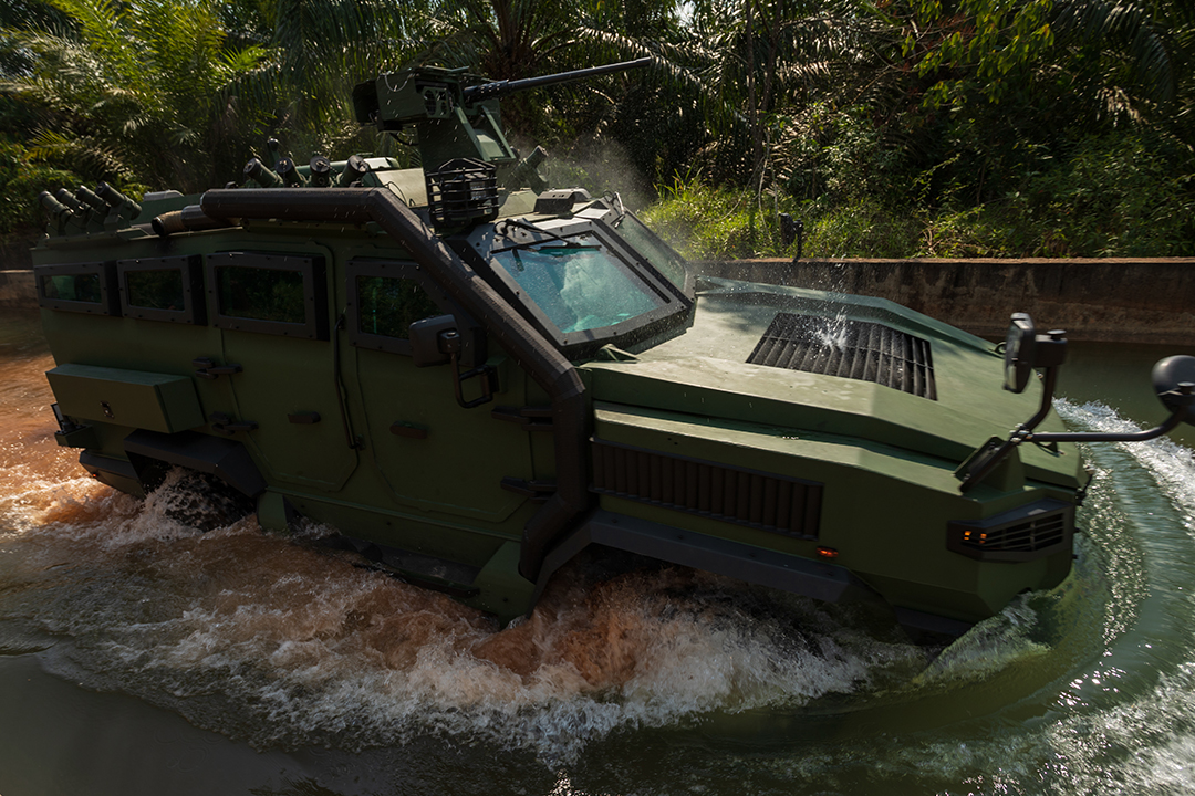 Malaysian Army and STRIDE Tests MILDEF 4X4 High Mobility Armoured Vehicle (HMAV)