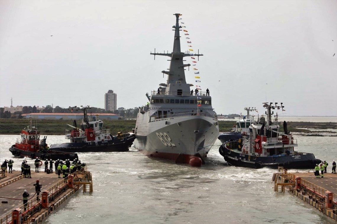 Navantia San Fernando Launches Third Al Jubail-class Corvette for Royal Saudi Naval Forces