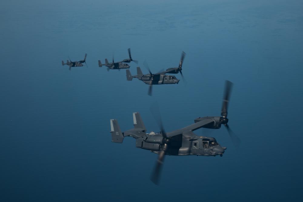 Ospreys soar over the CENTCOM AOR