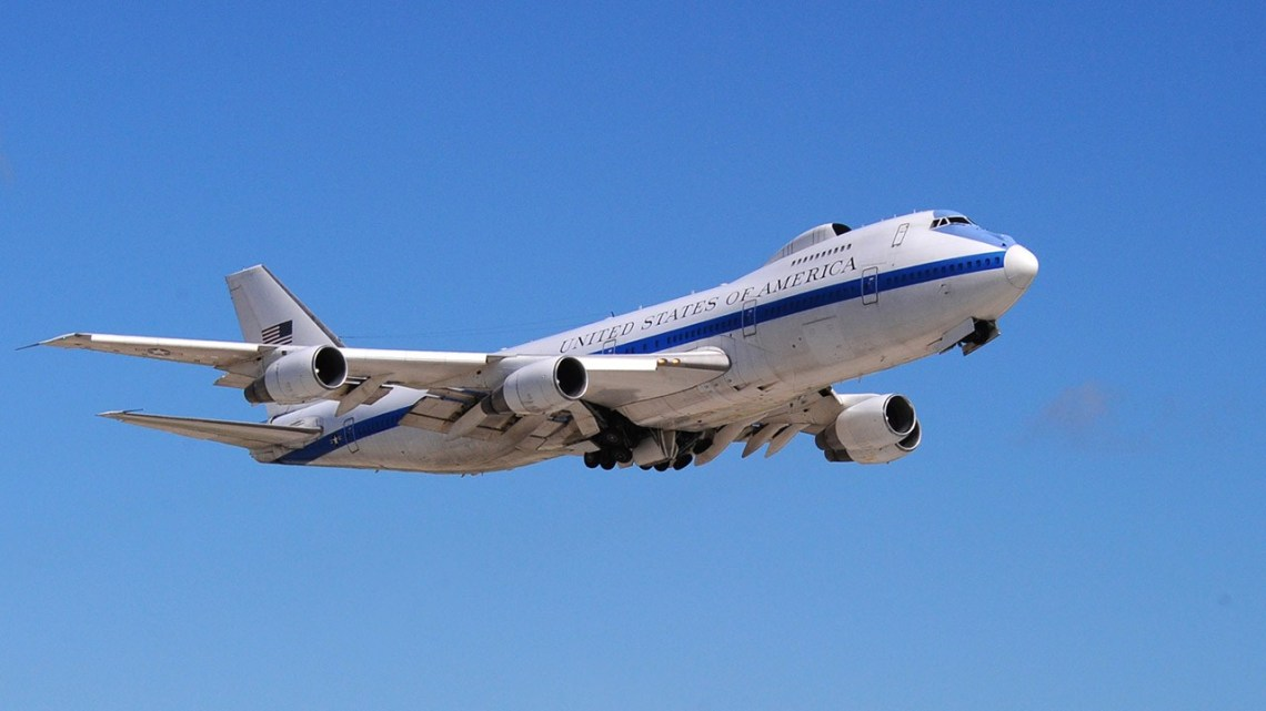 US Air Force Boeing E-4B Doomsday Plane