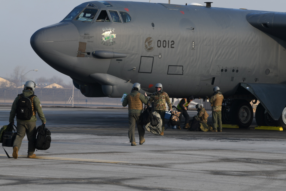 US Air Force Bomber Task Force Mission to Middle East