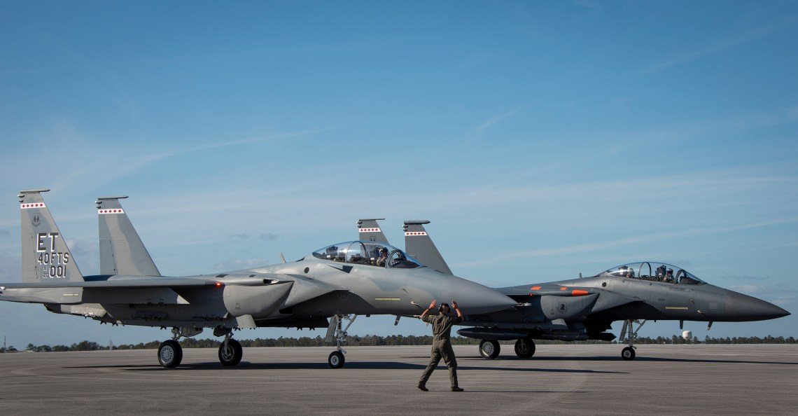US Air Force's First Boeing F-15EX Fighter Arrives at Eglin Air Force Base