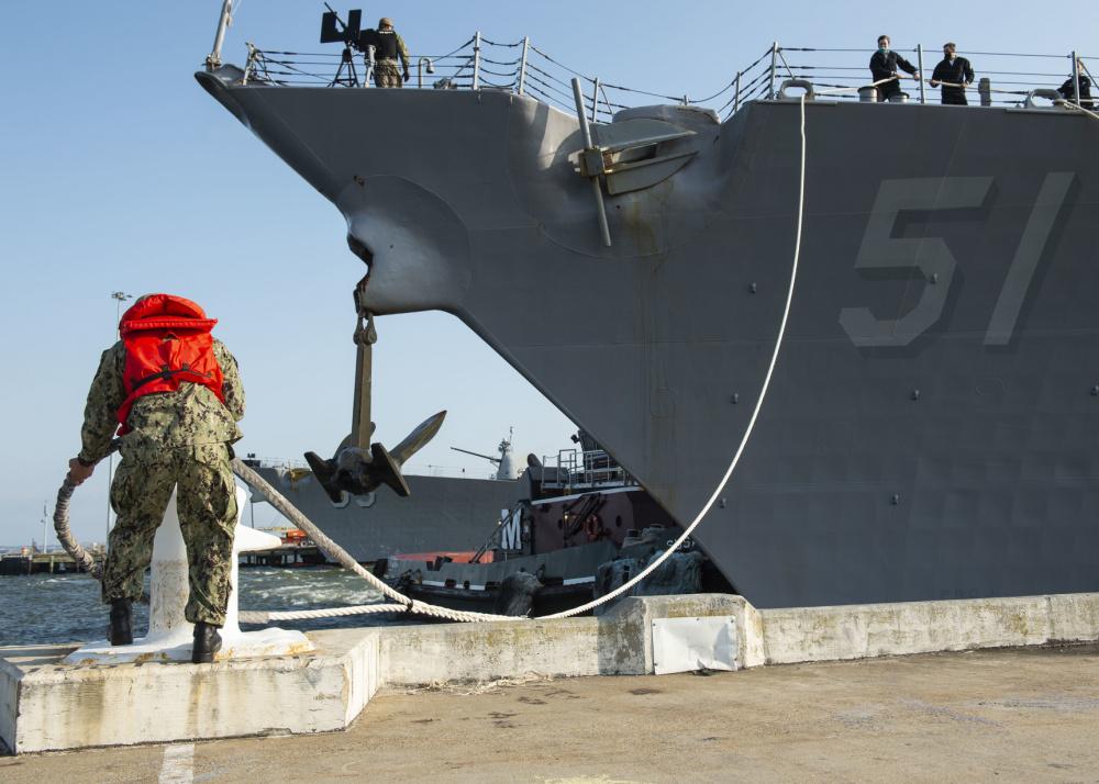 US Navy USS Arleigh Burke Prepares for Home Port Shift to Rota, Spain