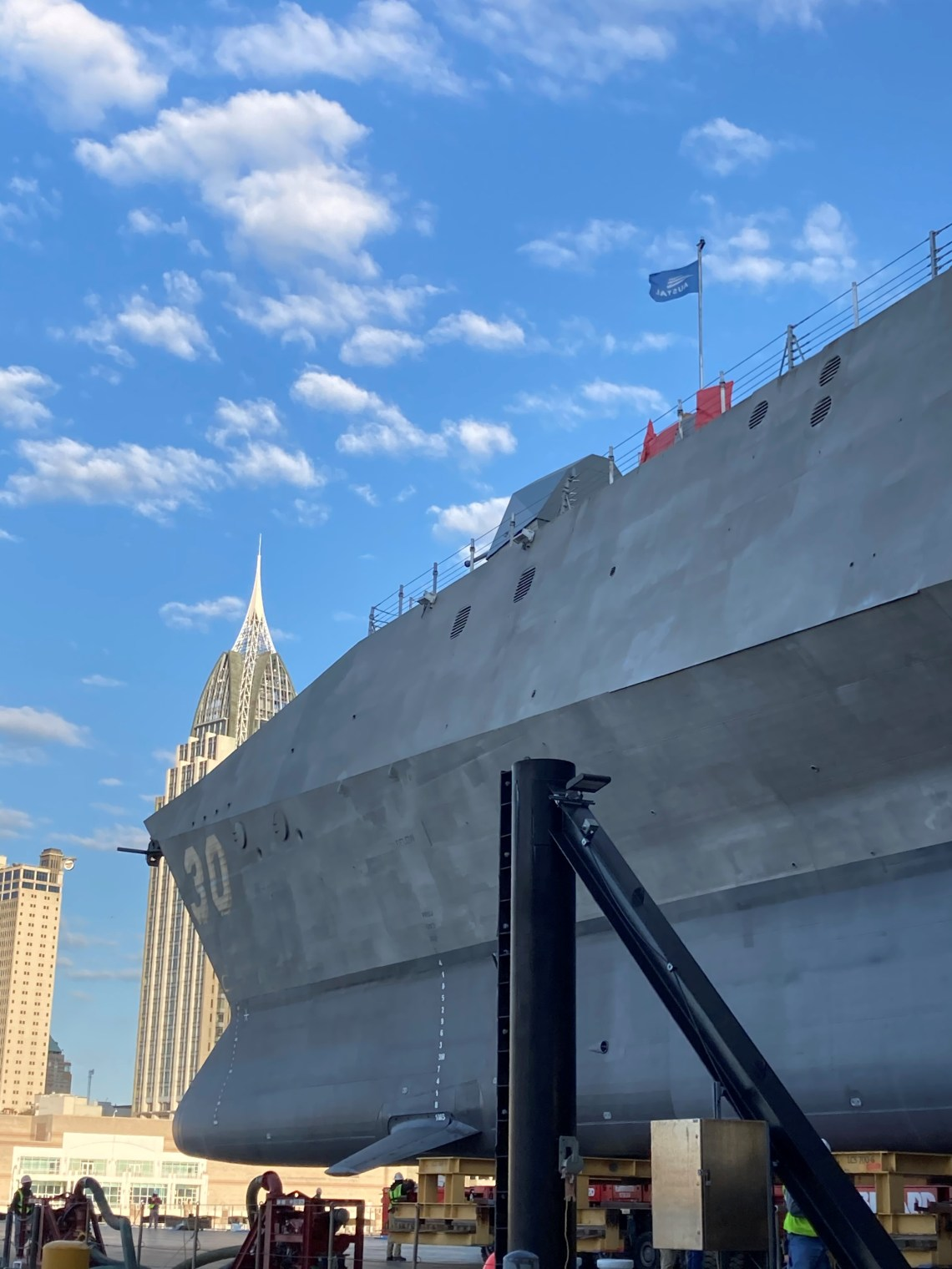Austal USA Launches Future USS Canberra (LCS 30) for US Navy
