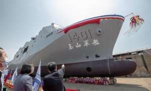 Republic of China Navy Landing Platform Dock Launched by Taiwanese Shipbuilder CSBC Corporation