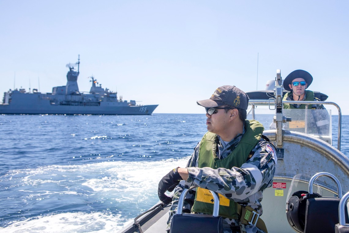 HMAS Ballarat is expected to be in the search area today after transiting the Lombok Strait.