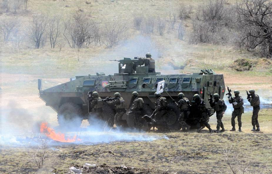 Serbian Armed Forces Lazar 3 multirole armored vehicle