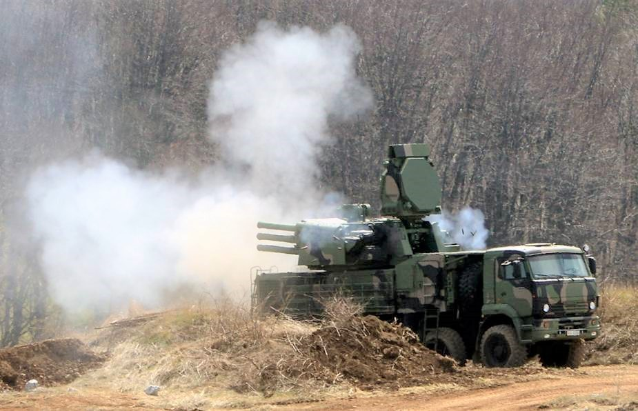 Serbian Armed Forces Pantsir-S1 missile system
