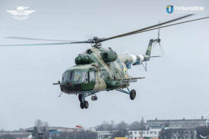Konotop Aircraft Repair Plant Aviacon Delivers Modernized Mi-8MT Helicopter to Ukrainian Air Force