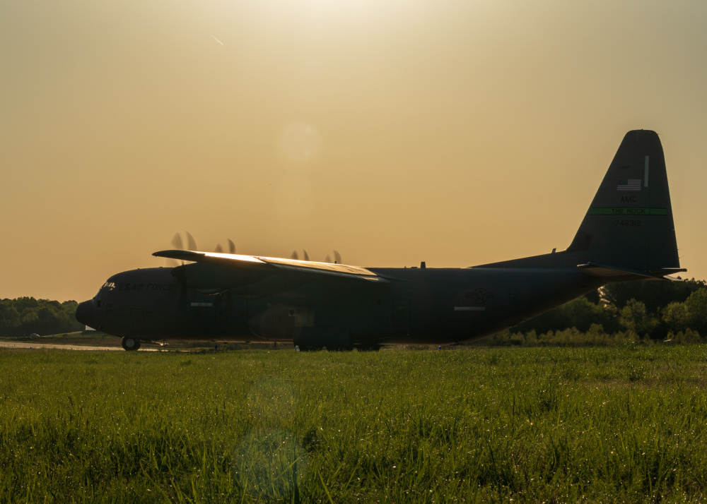 US Air Force 327th Airlift Squadron Conduct Air Mobility Operations During Joint Readiness Training