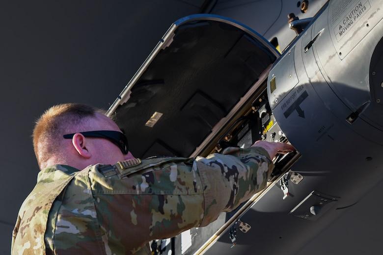 US Air National Guard Testing C-130 Hercules Precision Airdrop Using LITENING Pod