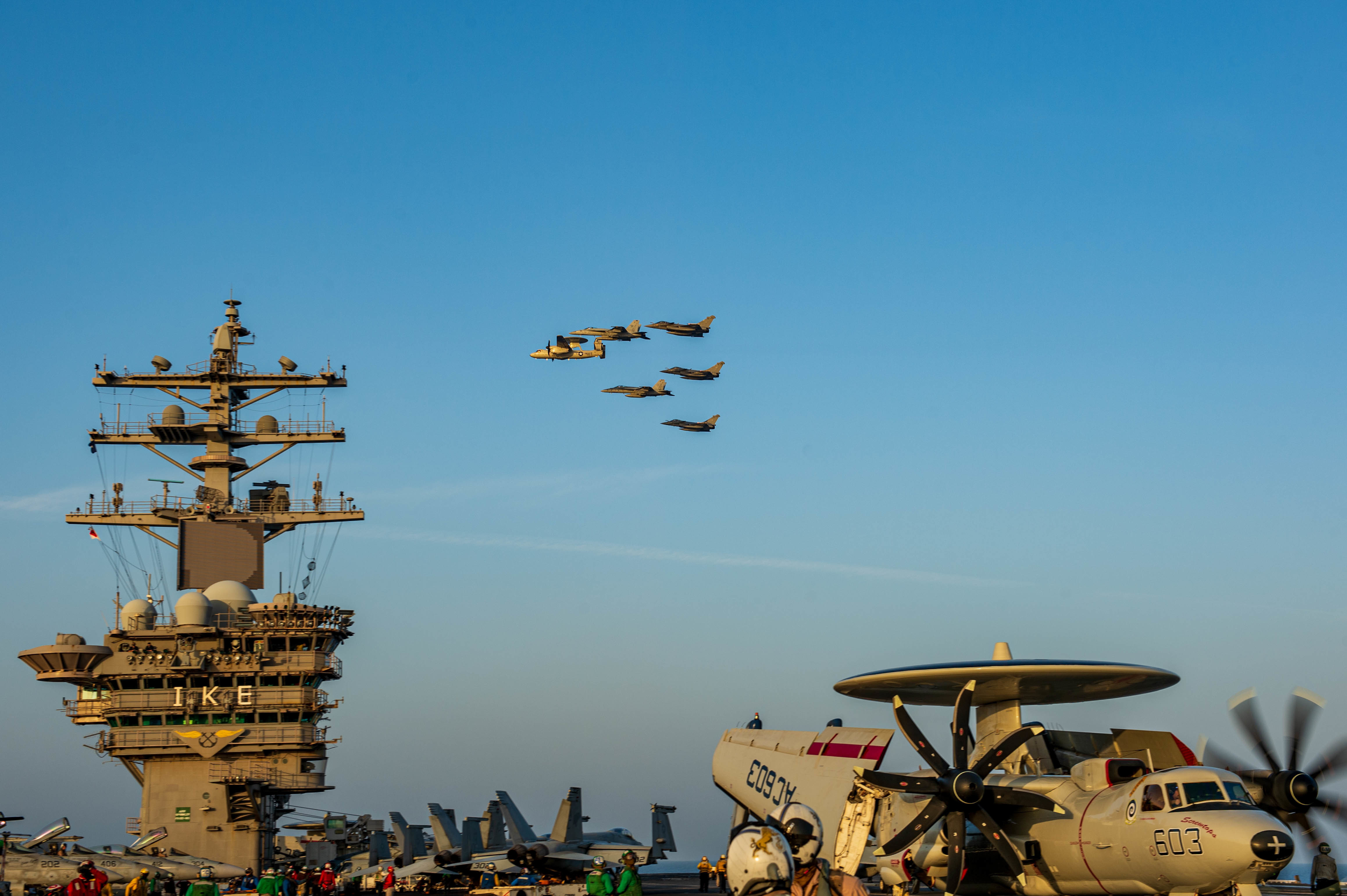 US and French Navies Carrier Strike Groups Conduct Dual Carrier Operations in 5th Fleet