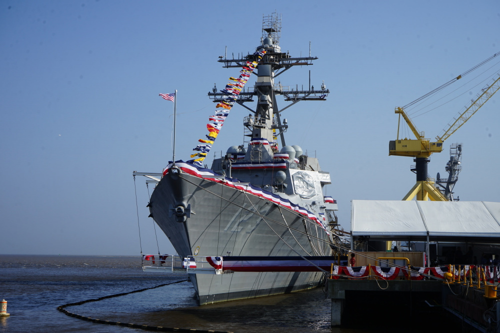 US Navy Christens New Destroyer USS Lenah Sutcliffe Higbee
