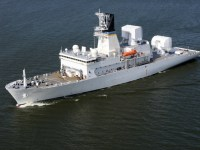 US Navy Missile Range Instrumentation Ship USNS Howard O. Lorenzen Arrives in Singapore