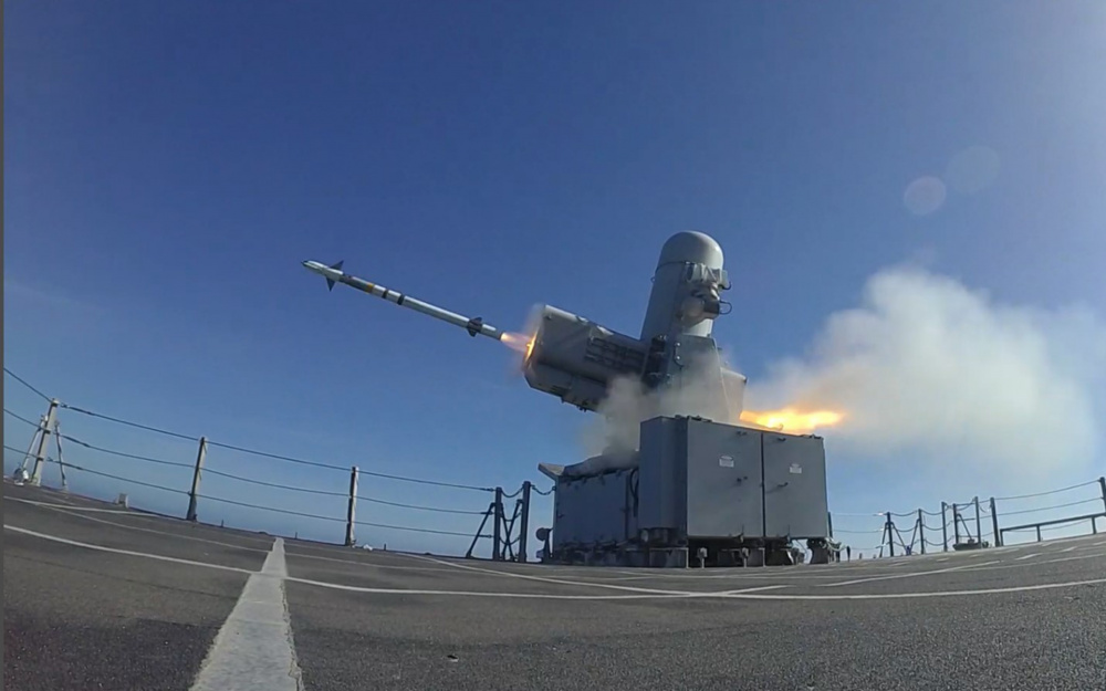 US Navy USS Charleston (LCS 18) Conducts Rolling Airframe Missile Shoot During Live-Fire Exercise