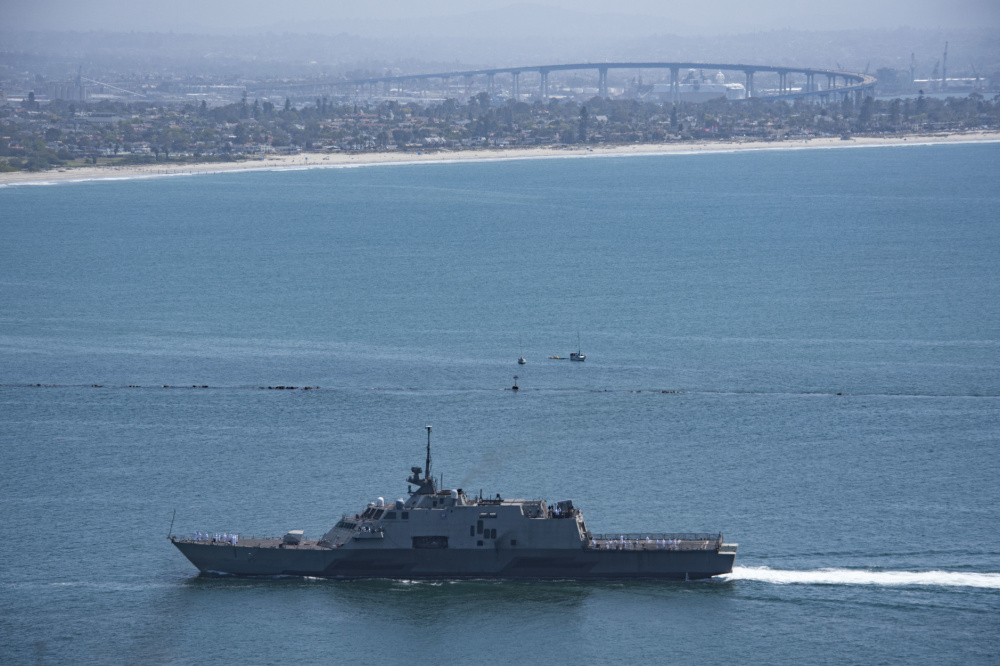 US Navy USS Freedom (LCS-1) Returns from Final Deployment