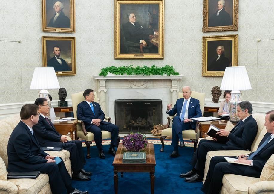 President Biden welcomed Republic of Korea President Moon Jae-in to the White House.
