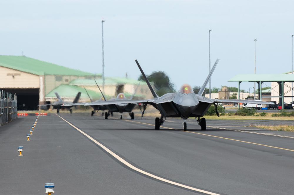 Hawaiian Raptors fly with RAAF for exercise Pacific Edge 21