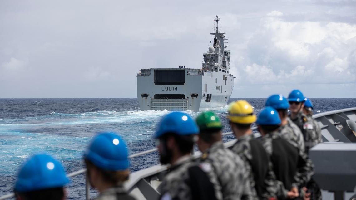 HMAS Parramatta (FFH 154) Joins French Navy Task Group for Training
