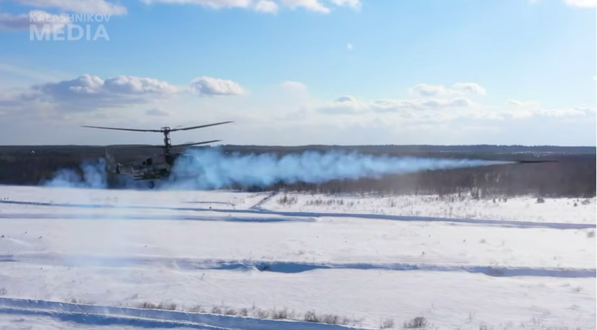 Kalashnikov's Upgraded Vihkr Guided Missile Tested from KA-52 Attack Reconnaissance Helicopter