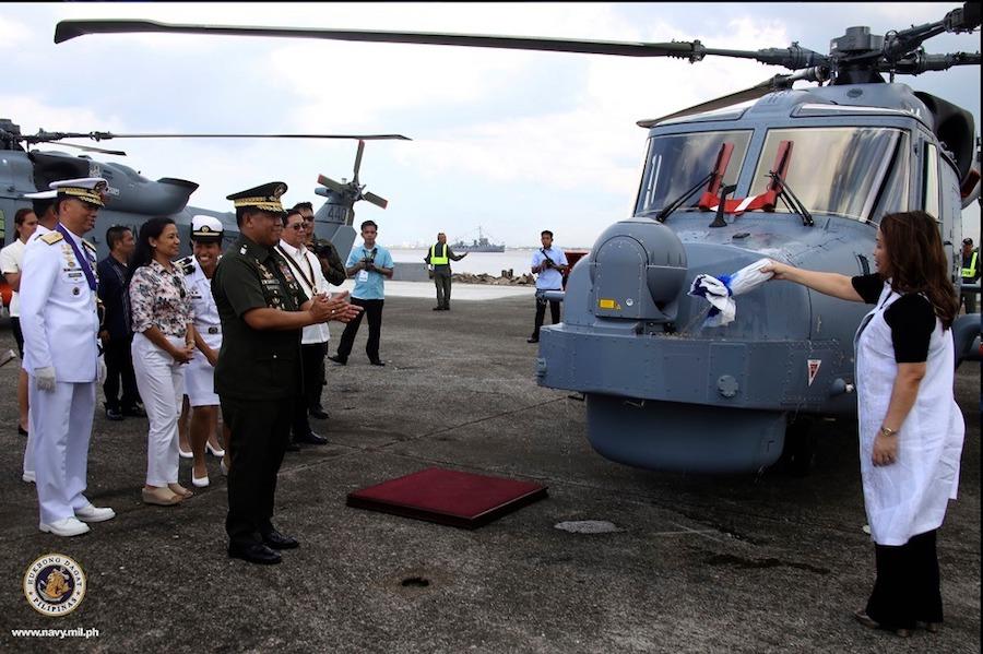 Philippine Navy AW159 Wildcat Anti-submarine Warfare Helicopter