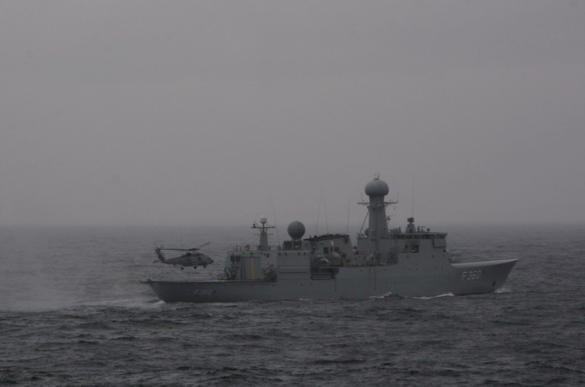 Standing NATO Maritime Group One Ships Train in Exercise Joint Warrior 21-1 with Queen Elizabeth Carrier Strike Group
