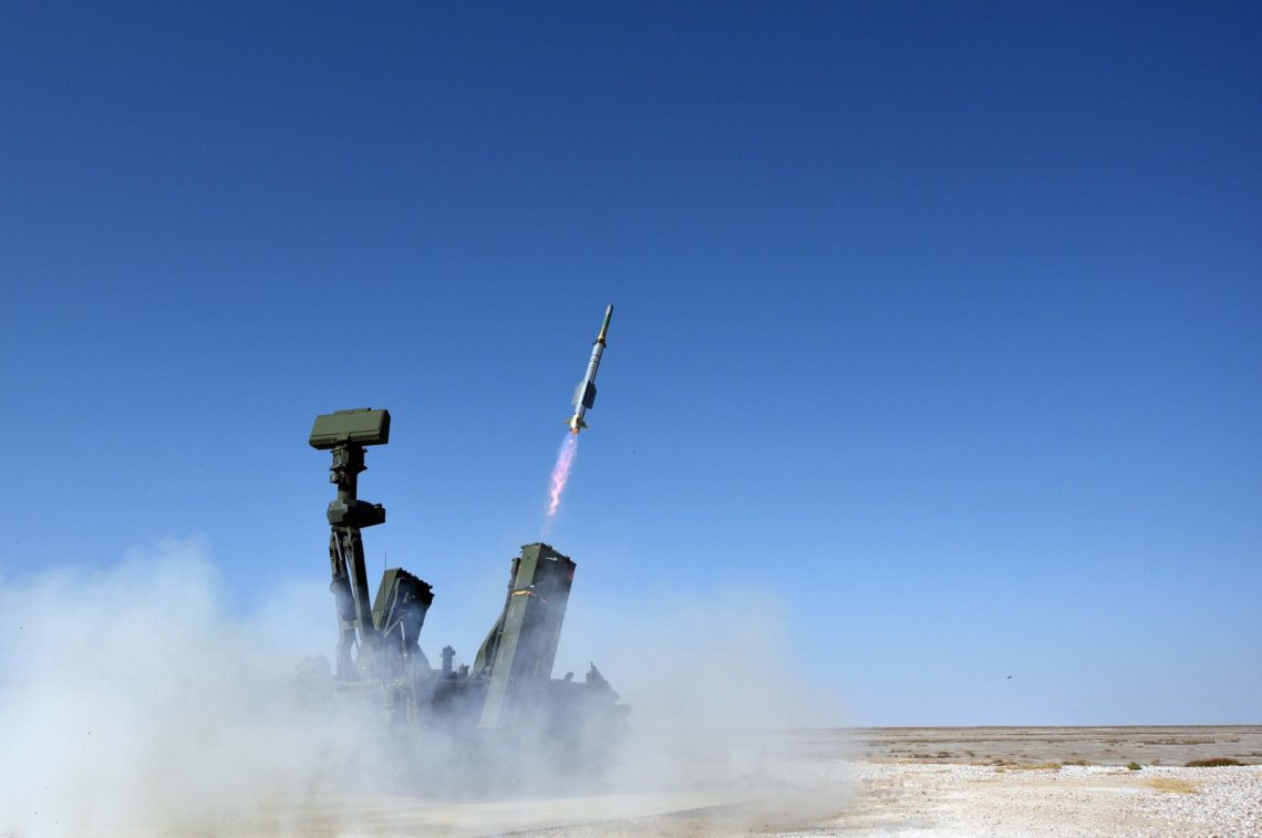 Turkey's HÄ°SAR-A short range air defense missile system successfully tested.