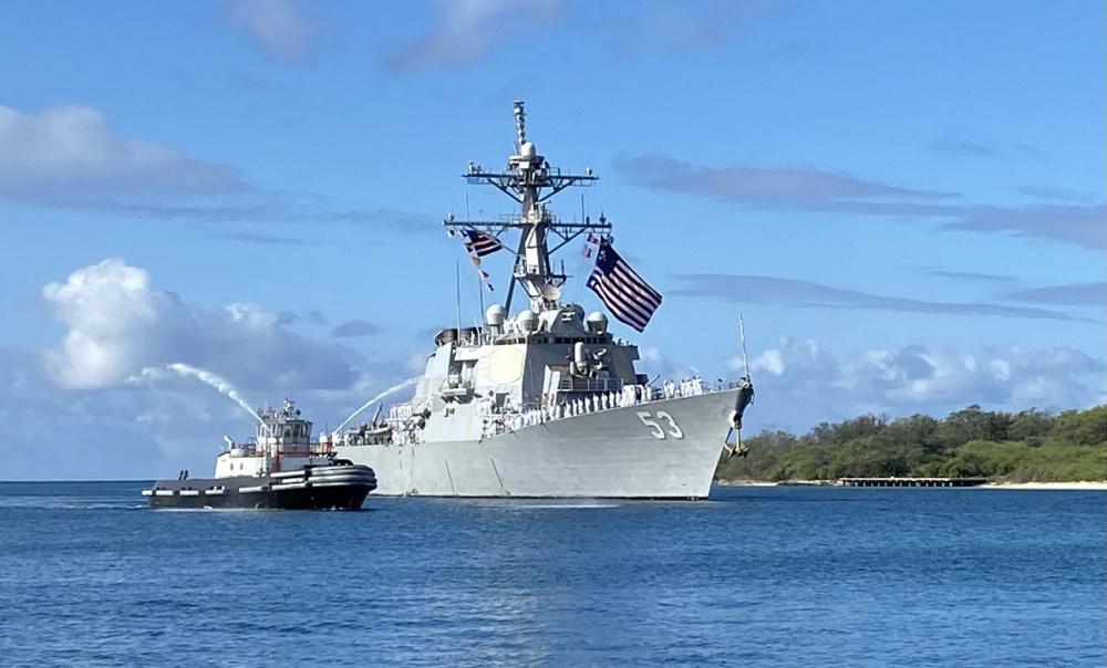 US Navy USS John Paul Jones Returns from 5th and 7th Fleet Deployment