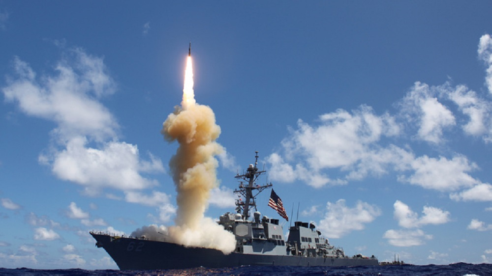 The guided-missile destroyer USS Fitzgerald (DDG 62) launches a Standard Missile-3 (SM-3) as apart of a joint ballistic missile defense exercise.