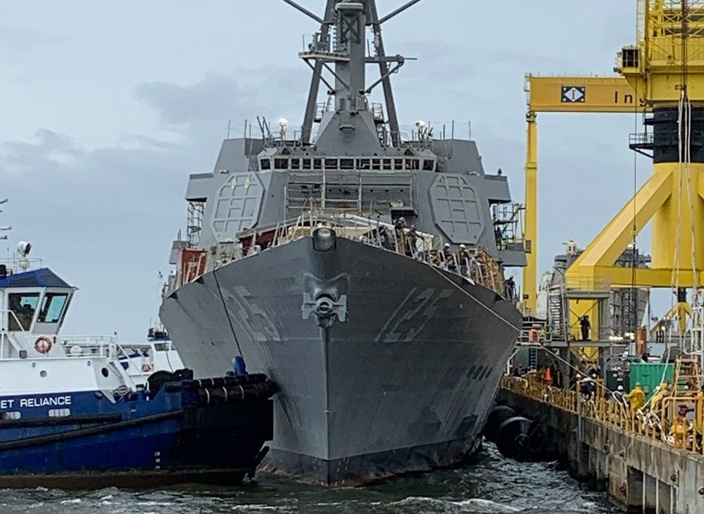 US Navy Launches Future Jack H. Lucas (DDG 125) Guided Missile Destroyer