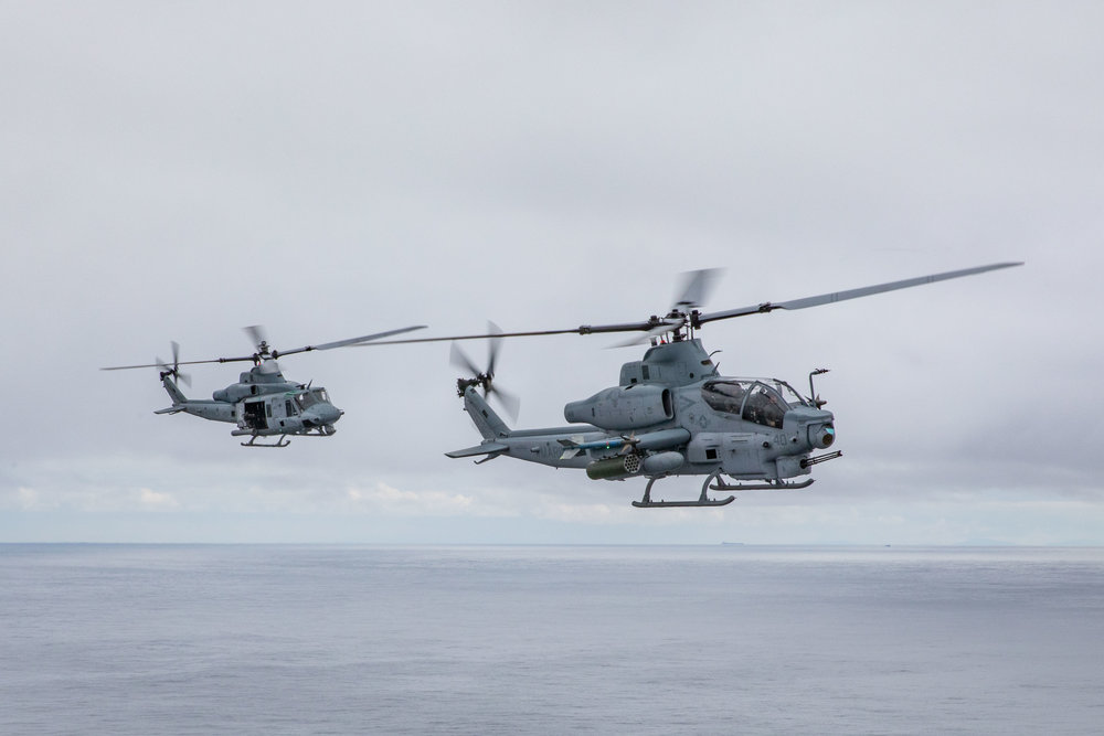 UH-1Y Venom and AH-1Z Viper Helicopters