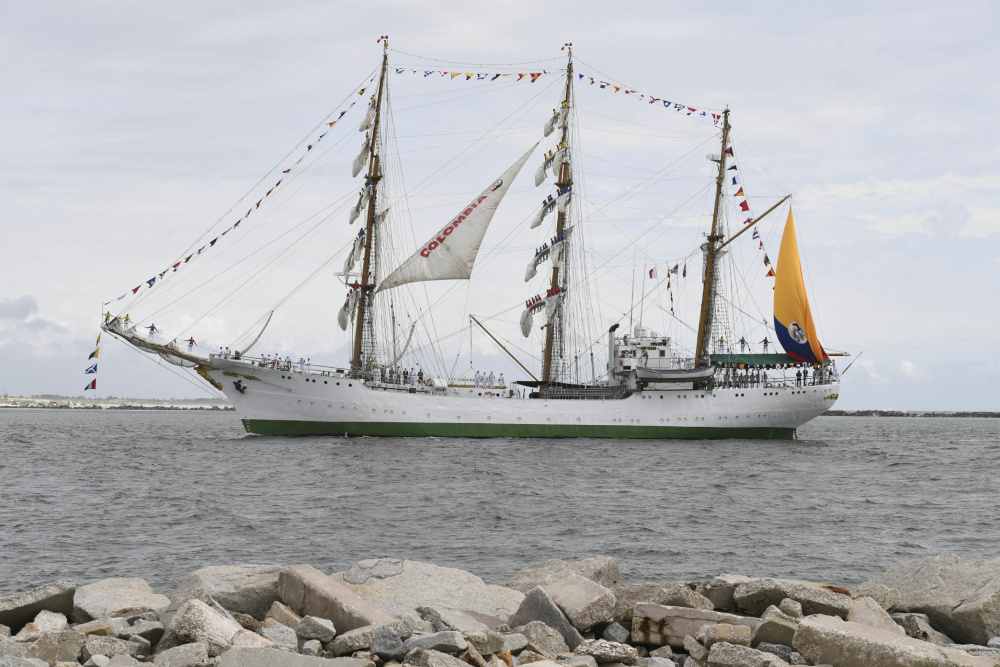 Colombian Navy Ship ARC Gloria Arrives in US Naval Station Mayport, Florida