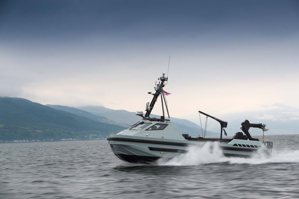 The third and final Royal Navy autonomous minehunting boat has been delivered to Royal Navy Clyde Naval Base