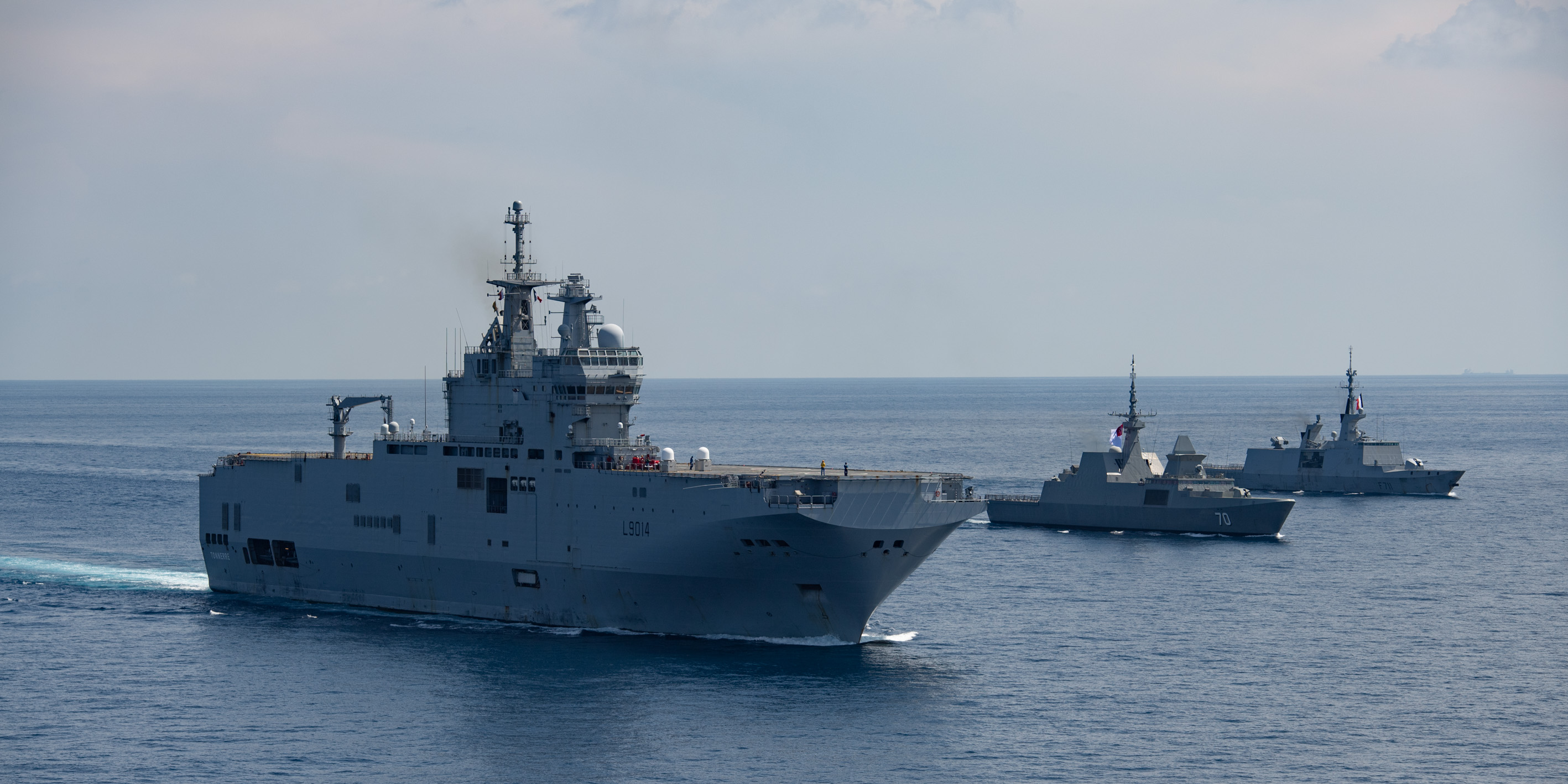 French Navy Landing Helicopter Dock Tonnerre Arrives in Singapore