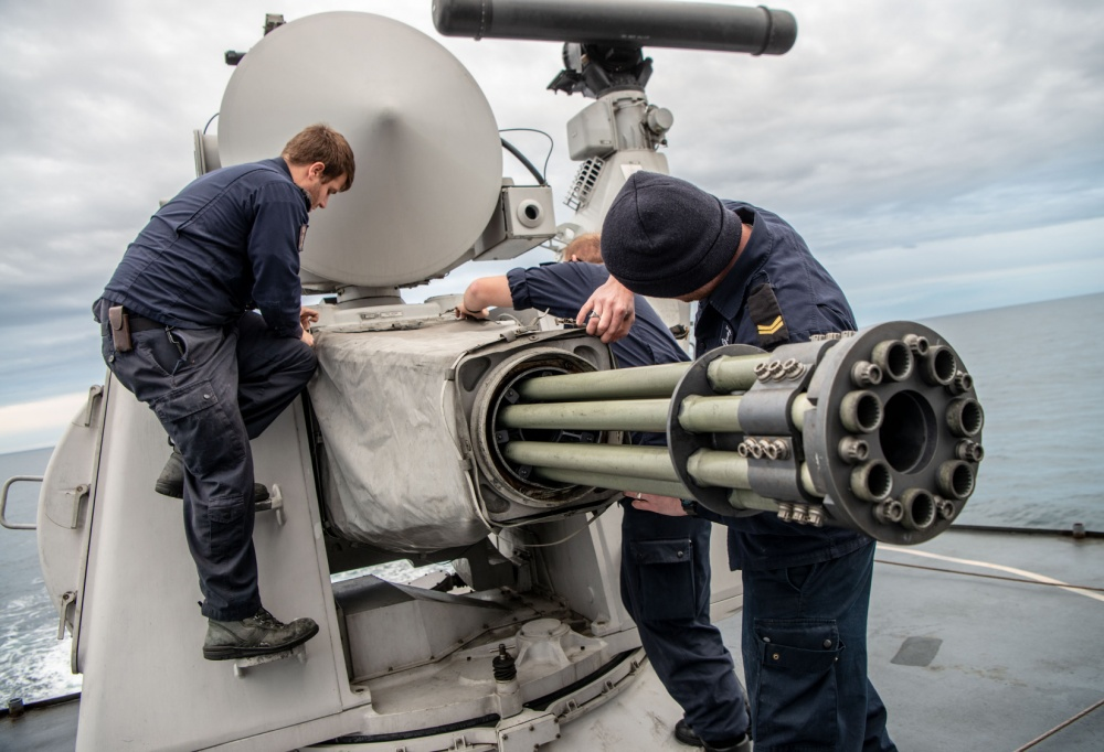 Goalkeeper Close in Weapons System (CIWS)